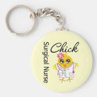 Surgical Nurse Chick v2 Key Chains
