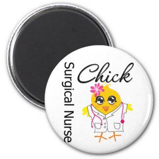 Surgical Nurse Chick v2 6 Cm Round Magnet