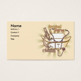 Surgical Nurse Collage business cards