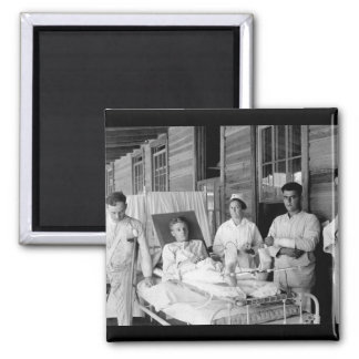 Surgical patients.  Base hospital_War Image Square Magnet