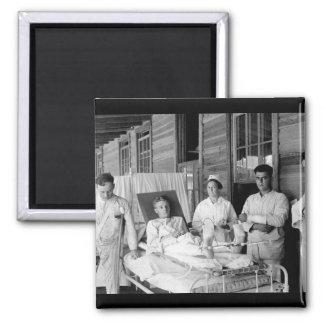 Surgical patients.  Base hospital_War Image Square Magnet