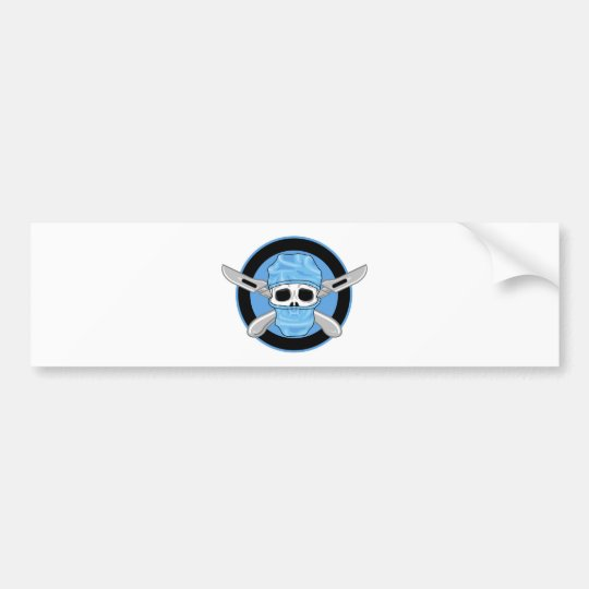 Surgical Skull Bumper Sticker