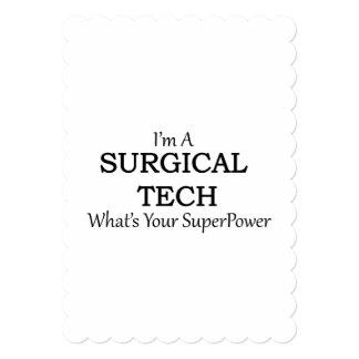 SURGICAL TECH 13 CM X 18 CM INVITATION CARD