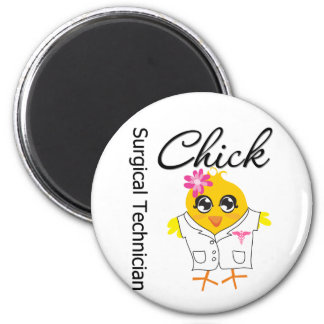 Surgical Technician Chick 6 Cm Round Magnet