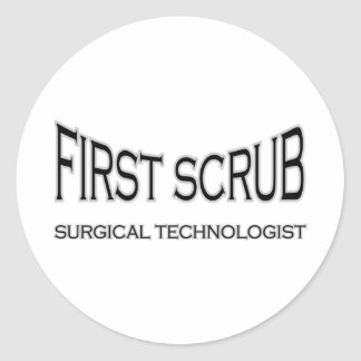 Surgical Technologist - First Scrub (black) Stickers