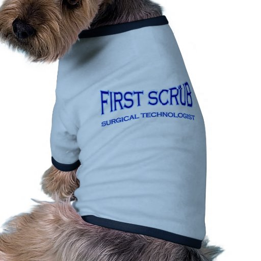 Surgical Technologist - First Scrub (blue) Dog Clothing