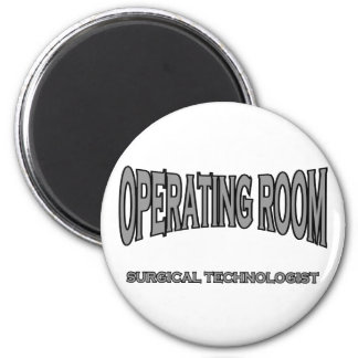 Surgical Technologist - Operating Room (black) 6 Cm Round Magnet