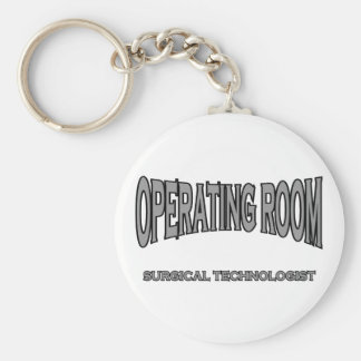 Surgical Technologist - Operating Room (black) Basic Round Button Key Ring
