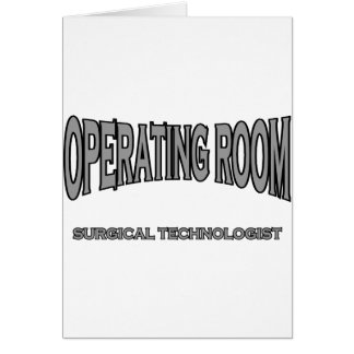 Surgical Technologist - Operating Room black Greeting Cards