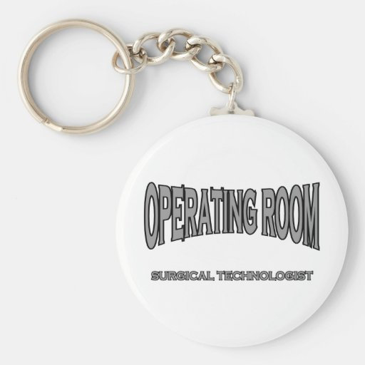 Surgical Technologist - Operating Room (black) Key Chain
