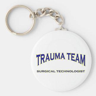 Surgical Technologist - Trauma Team (navy) Basic Round Button Key Ring