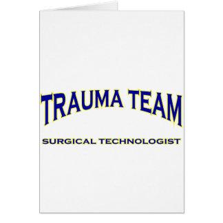 Surgical Technologist - Trauma Team (navy) Greeting Card