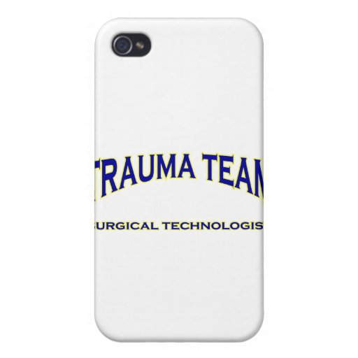 Surgical Technologist - Trauma Team (navy) iPhone 4 Cover