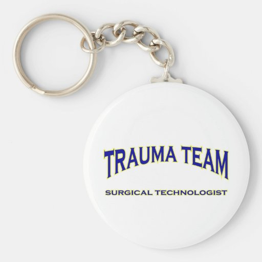 Surgical Technologist - Trauma Team (navy) Key Chain
