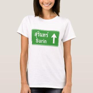 Surin Ahead ⚠ Thai Highway Traffic Sign ⚠ T-Shirt