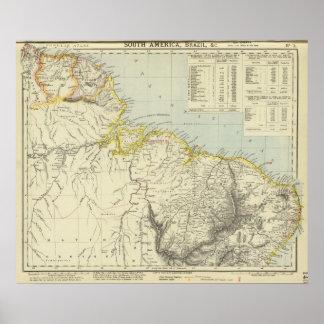 Surinam and Brazil Poster