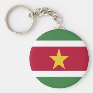 Suriname Basic Round Button Key Ring