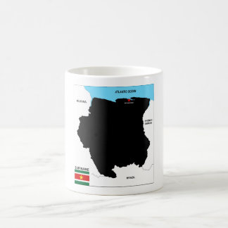 suriname country political map flag coffee mug