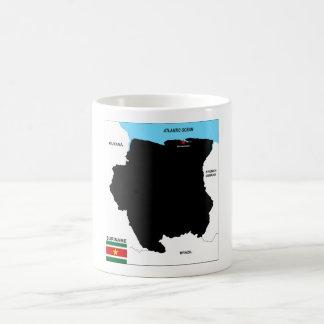 suriname country political map flag coffee mug
