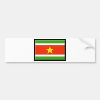 Suriname Flag Bumper Stickers