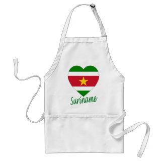 Suriname Flag Heart Apron