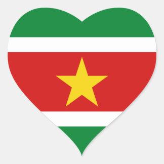 Suriname Flag Heart Sticker