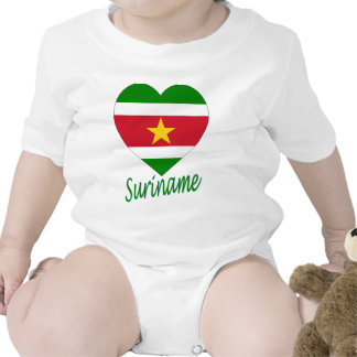 Suriname Flag Heart Tee Shirt