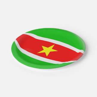 Suriname Flag Paper Plate