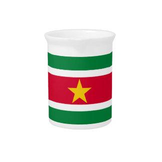 Suriname Flag Pitcher