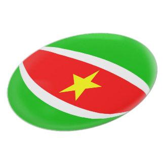 Suriname Flag Plate