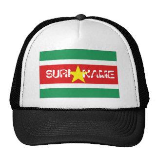 Suriname flag souvenir hat
