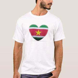 Suriname Heart Flag T-Shirt
