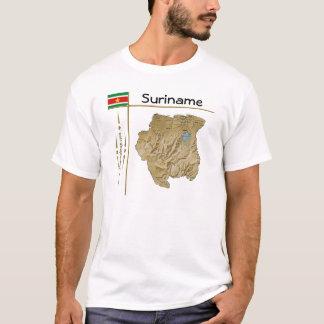 Suriname Map + Flag + Title T-Shirt