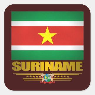 """""""Suriname Pride"""" Square Sticker"""