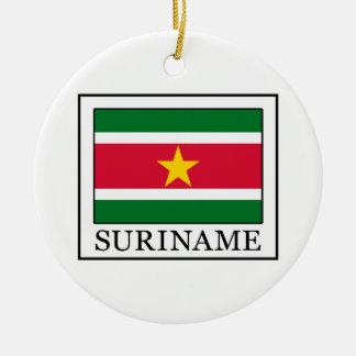 Suriname Round Ceramic Decoration