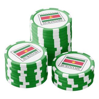 Suriname Set Of Poker Chips