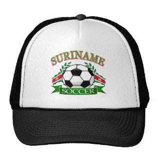 Suriname soccer ball designs mesh hats