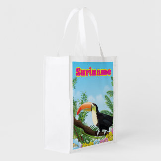 Suriname South american paradise travel poster