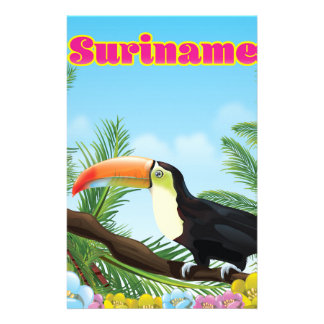 Suriname South american paradise travel poster Customized Stationery