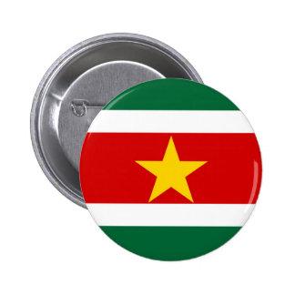 suriname surinam country flag nation symbol 6 cm round badge