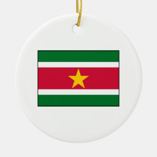 Suriname - Surinamese Flag Christmas Tree Ornaments