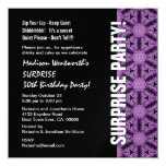 SURPRISE 30th Birthday Party Modern Template Personalised Invitation