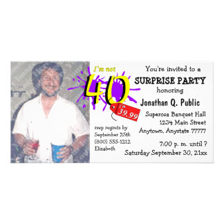 Surprise 40th Birthday Party Photo Invitation Customised Photo Card