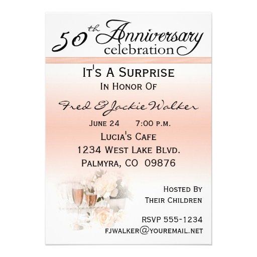 Wedding invitation wording surprise th