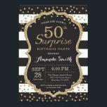 Surprise 50th Birthday Invitation Gold Glitter Invitationbrdiv Class