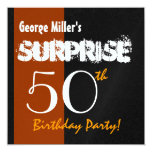 SURPRISE 50th Birthday Modern for Him W1900 Personalized Announcements