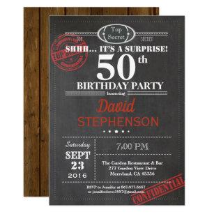 Surprise 50th Birthday Invitations Announcements Zazzle Uk