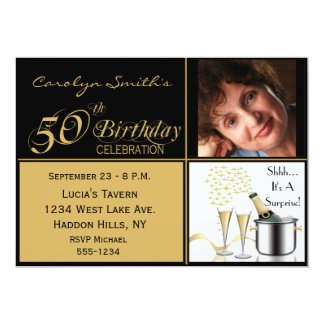 Surprise 50th Birthday Invitations Announcements Zazzlecouk