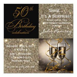 Surprise 50th birthday invitations announcements zazzle surprise 50th birthday party invitations filmwisefo Choice Image