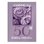 SURPRISE 50th Birthday Party Invite Purple Roses